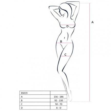 Catsuit Passion Erotic Line BS019 Preto