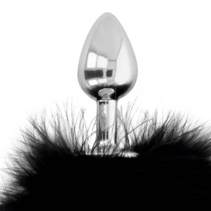 Plug Anal de Metal Darkness com Cauda de Coelhinho 7 cm