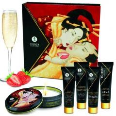 Kit Shunga Geisha's Secrets - Morango e Champanhe