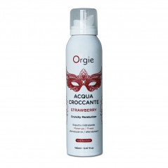 Espuma Massagem Orgie Acqua Croccante Morango 150 ml