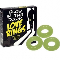 Anéis Pénis Glow In The Dark Love Rings 3 uni.