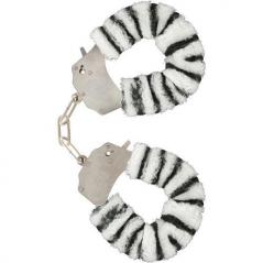 Algemas com Peluche Furry Fun Handcuffs Zebra
