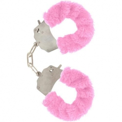 Algemas com Peluche Furry Fun Handcuffs Rosa
