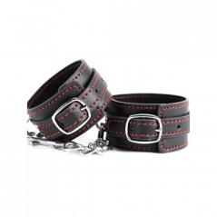 Argus Fetish Black Leather Wrist Cuffs