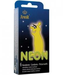 Preservativos Fluorescentes Amor Neon 6 Uni.