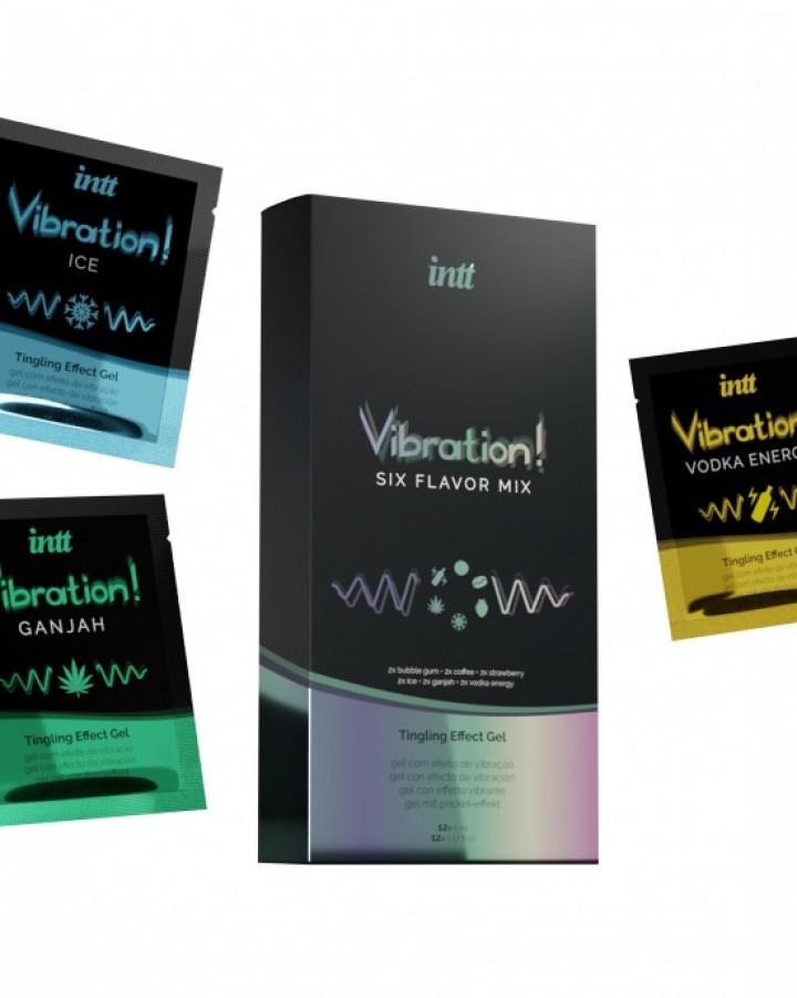 Vibrador Liquido Intt Vibration! Mix 6 Sabores 12 x 5ml
