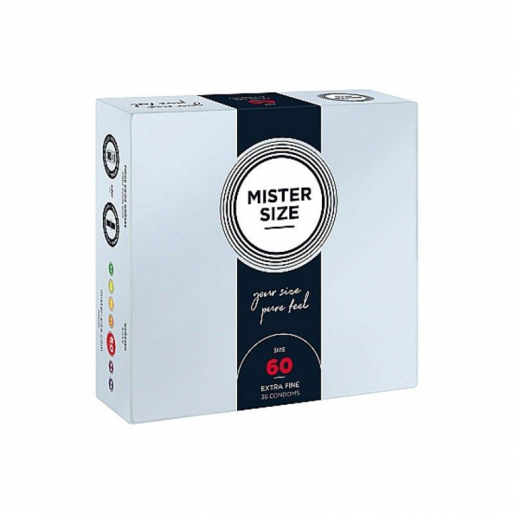 Preservativos Mister Size Pure Feel Extra Finos 60 MM - 36 uni